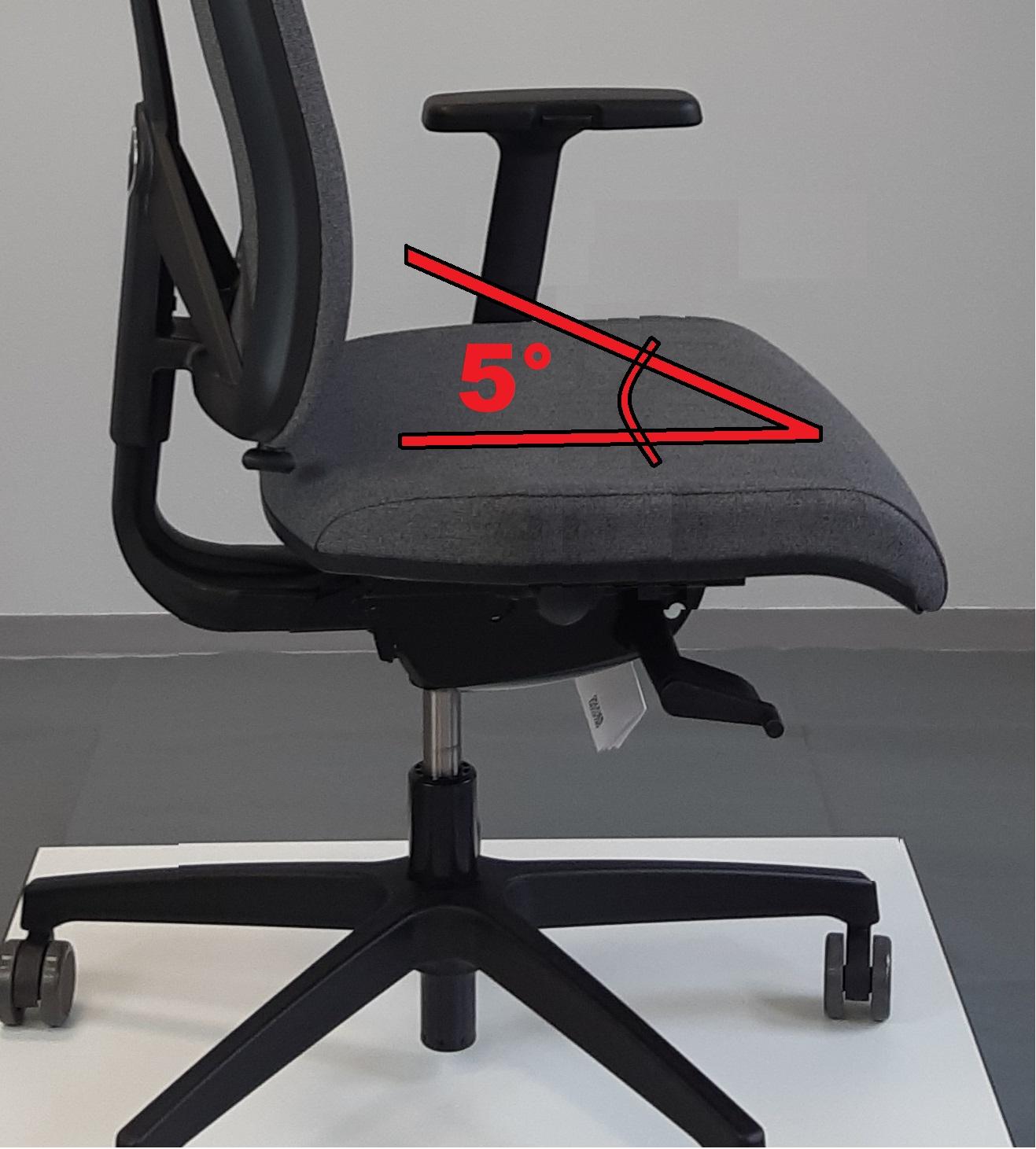 doplnit  náklon sedáku 5°